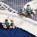 Anthropologie Jewelry   3 Items Free Shipping Les Nereides Birds Earrings   Color: Pink/White   Size: Os
