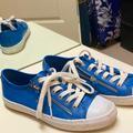 Coach Shoes   Coach Blue Pebble Leather Shoes. Size 8   Color: Blue/White   Size: 8