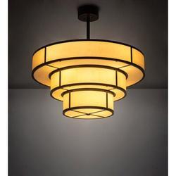 "2nd Ave Lighting 36"" Wide Jayne 3 Tier Pendant in Black/Brown, Size 18.0 H x 36.0 W x 36.0 D in | Wayfair 222211"