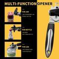 TREASURECABINET Can Opener Manual A-WAY Can Opener Heavy Duty Opener w/ Anti Slip Grip Handle in Black, Size 5.1 W x 9.0 D in | Wayfair