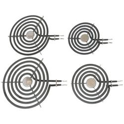 Kitchen Basics 101 Electric Range 4 Piece Set Surface Element Burner Kit in Black, Size 2.0 H x 8.0 W x 8.0 D in   Wayfair