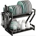zhongshanginter Kitchen Stainless Steel Dish Rack Stainless Steel in Gray, Size 14.1 H x 21.2 W x 10.2 D in   Wayfair JUQHSZ08XYXKFBY