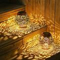 goodgou16 2 Pack Solar Lantern Lights, Hanging Solar Garden Lights, Waterproof Outside Decor Lighting, Outdoor Decorations For Patio, Garden, Yard
