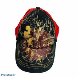 Disney Accessories   Disney Hat Mickey Mouse Rock Legend Snapback Hat   Color: Black/Red   Size: Os