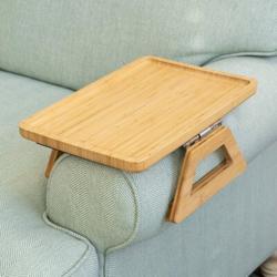 Red Barrel Studio® Couch Arm Breakfast Tray Wood in Brown, Size 4.0 H x 7.5 W x 9.5 D in   Wayfair AF99AC2E05BE4D0FBA150B910FAF8B72