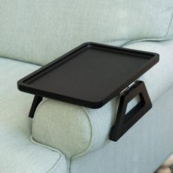 Red Barrel Studio® Couch Arm Breakfast Tray Wood in Black, Size 4.0 H x 7.5 W x 9.5 D in   Wayfair 8E6ED31770B542FE90957CB699F359B5