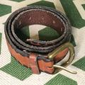 J. Crew Accessories   J. Crew Leather Belt; Two Tone; Brass Buckle   Color: Black/Brown   Size: 36
