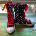 Disney Shoes | Kids Disney Minnie Mouse High Tops. Size 1 | Color: Black/Red | Size: 1bb