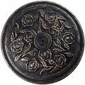Canora Grey Umbrella Stand Outdoor Base Umbrella Stand Heavy Duty Umbrella Stand 29 Lb Round Patio Umbrella Stand w/ Floral Pattern in Brown Wayfair