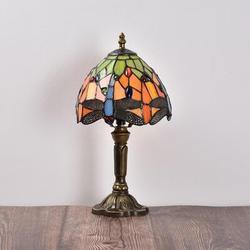 "Astoria Grand Carlita 14.6"" Accent Bronze Table Lamp in Blue/Brown/Orange, Size 14.6 H x 7.9 W x 7.9 D in | Wayfair"