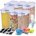 Prep & Savour Cereal Container, Airtight Dry Food Storage Containers, BPA Free Large Kitchen Pantry Storage Container For Flour, Snacks in Blue