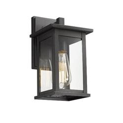 17 Stories Outdoor Wall Light Fixture, Exterior Wall Mount Lighting, Outdoor Wall Sconces, Porch Wall Lighting Finish (Oil Rubber Bronze in Black