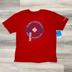 Columbia Shirts | Columbia Mens Outdoor Gear Graphic Tshirt Red Larg | Color: Red | Size: L