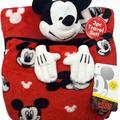 Disney Bedding | Disney Mickey Mouse Blanket, Pillow, Plush Mickey | Color: Black/Red | Size: Os 3 Peice Set Blanket Pillow Mickey