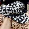 Nine West Accessories   Bw Nine West Houndstooth Hat   Color: Black/White   Size: Os