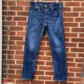 Levi's Jeans   Levis 502 Mens Dark Wash Denim Jeans 36 X 32   Color: Blue   Size: 36