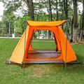 Tooca Camping 4 Person Tent w/ Carry Bag in Orange | Wayfair WFPY7962799