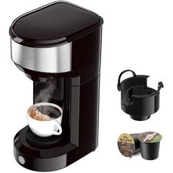 Love life Single Serve Coffee Maker Coffee Brewer For K-Cup Single Cup Capsule & Ground Coffee, Single Cup Coffee Makers w/ 6 To 14Oz Reservoir
