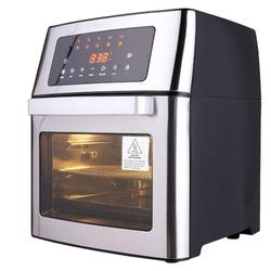 Homdox 10-In-1 Air Fryer Toaster Oven, 16 Quart/15L Large Air Fryer Oven, Convection Oven Airfryer w/ Rotisserie, Dehydrator & Pizza in Black/Gray