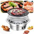 TBVECHI 35cm Round Barbecue Grill Household Smokeless Carbon Grill Charcoal Hot Pot Barbecue Grill Pot Indoor & Outdoor Grill Bbq | Wayfair