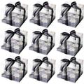 Prep & Savour 12 Pcs Clear Cupcake Boxes,Hold 4 Standard Cupcakes 7X7x5 1/2 Inch Plastic Cupcake Carrier Holder in Black | Wayfair