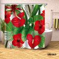 Rideaux De douche à fleurs De Rose, imperméable, pour salle De Bain, baignoire, grande couverture De
