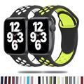 Bracelet Sport en Silicone pour Apple Watch, 44mm 40mm 38mm 42mm, pour montre connectée, pour iWatch