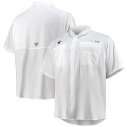 Men's Columbia White Dallas Cowboys Big & Tall Tamiami Omni-Shade Button-Down Shirt