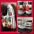 Converse Shoes   Converse Chuck Taylor Rose Skull , Size 8   Color: Black/Red   Size: 8