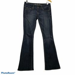 American Eagle Outfitters Jeans | American Eagle Low Rise Artist Flare Denim Jeans | Color: Blue | Size: 2
