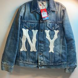 Gucci Jackets & Coats   Gucci Stone-Wash Denim Jacket Ny Yankees Mlb Patch   Color: Blue   Size: S