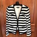 Nine West Jackets & Coats   Nine West Sz10 Blkwht Horizontal Stripe Jacket   Color: Black/White   Size: 10