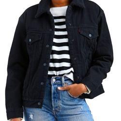 Levi's Jackets & Coats   Levis Faux Fur Lined Black Denim Jacket Size M   Color: Black   Size: M