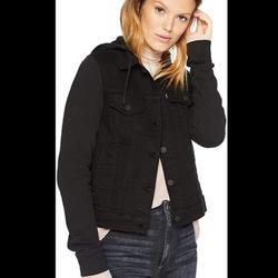 Levi's Jackets & Coats   Black Levis Hybrid Hooded Truckers Jean Jacket Xs   Color: Black   Size: Xs