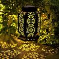 goodgou16 Hanging Solar Lantern Outdoor Waterproof Warm White LED Retro Solar Landscape Decorative Lighting For Garden Patio Lawn Yard Pathway