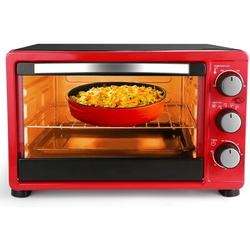 Love life Convection Toaster Oven w/ Timer, Toast, Broil Settings, Includes Baking Pan, Rack & Crumb Tray, 6-Slice in Red   Wayfair B07RTCKSC2