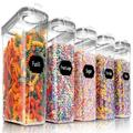 qing 5PCS Cereal Containers Storage Set,BPA-Free Airtight Food Storage Container Set w/ Lids, Kitchen Pantry Organization & Storage   Wayfair