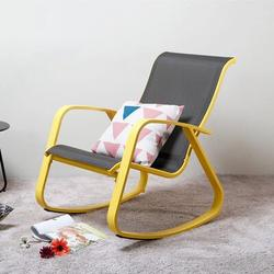 Trule Lazy Siesta Chair Rocking Chair Recliners Chair Folding Chair Balcony Chair Garden Chair Indoor Outdoor Leisure Chair (Color : Green) in Yellow