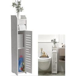 Rosecliff Heights Small Bathroom Storage,Thin Toilet Vanity Cabinet,Bathroom Organizer Shelves w/ Door,Toilet Paper Holder Cabinet | Wayfair in White