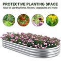 Arlmont & Co. Galvanized Raised Garden Bed Kit,Raised Garden Boxes Outdoor, Oval Metal Raised Garden Beds For Vegetables, Flowers, Herbs… Metal