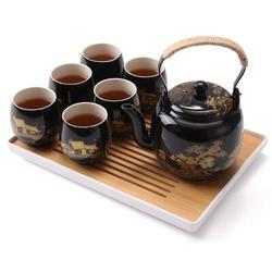 Rosdorf Park Japanese Tea Set, Tea Set w/ 1 Teapot Set, 6 Tea Cups, 1 Tea Tray, 1 Stainless Infuser, Beautiful Asian Tea Set For Tea Lover/Women/Men