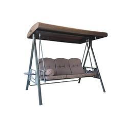 Arlmont & Co. Paralimni Porch Swing Metal in Brown, Size 67.0 H x 76.0 W x 45.0 D in | Wayfair 16F91D2B07A648F990B5FDEC81849C8D