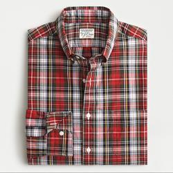 J. Crew Shirts   J Crew Classic Plaid Shirt Plaid Button Down Sz S   Color: Green/Red   Size: S