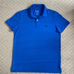 American Eagle Outfitters Shirts   Mens American Eagle Outfitters Coreflex Polo Shirt   Color: Blue   Size: M