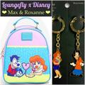 Disney Bags | Loungefly Goofy Movie Max & Roxanne Mini Backpack+ | Color: Blue/Purple | Size: 3 Pc. Set