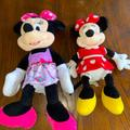 Disney Toys | Bundle Of 2 Disney Minnie Mouse Plushs | Color: Pink/Red | Size: Osg