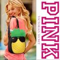 Pink Victoria's Secret Bags | New Pink Victorias Secret Insulated Pineapple Bag | Color: Black/Yellow | Size: Os