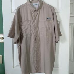 Columbia Shirts   Mens Columbia Tamiami 2 Short Sleeve Shirt   Color: Cream   Size: Xl