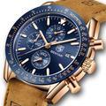BENYAR – Montre à Quartz pour hommes, classique, luxe, bracelet en Silicone, étanche, chronographe