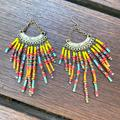 Free People Jewelry   Free People Vintage Fringe Beaded Earrings Boho   Color: Gold/Silver   Size: Os
